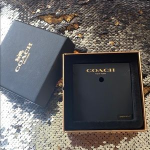 Coach Black and Gold Necklace Jewelry Gift Box
